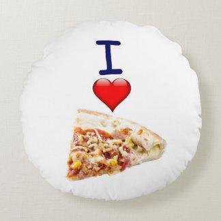 Pizza Round Throw Pillow Image