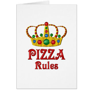 PIZZA RULES CARD