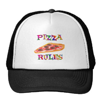 Pizza Rules Trucker Hat