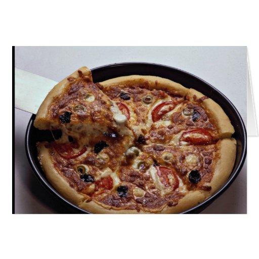 pizza sabrosa para los amantes de la comida felicitación