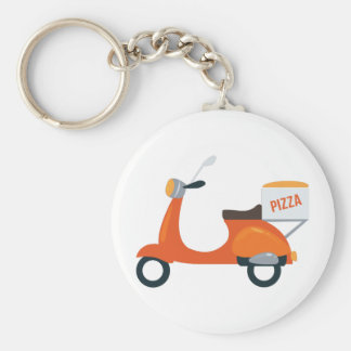 Pizza Scooter Keychain