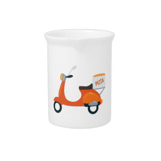 Pizza Scooter Drink Pitcher