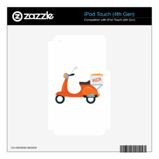 Pizza Scooter iPod Touch 4G Skin