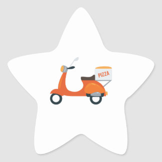 Pizza Scooter Star Sticker