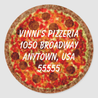 Pizza Shaped Return Address Label