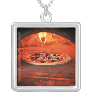 Pizza Silver Plated Necklace