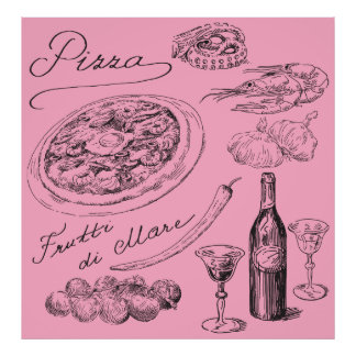 Pizza Sketch Poster