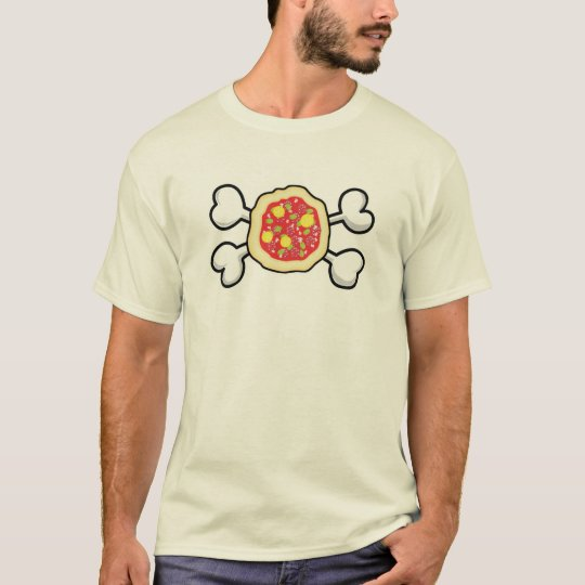 pizza Skull and Crossbones T-Shirt