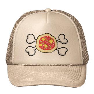 pizza Skull and Crossbones Trucker Hat