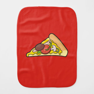 Pizza slice baby burp cloth