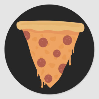 Pizza Slice Classic Round Sticker