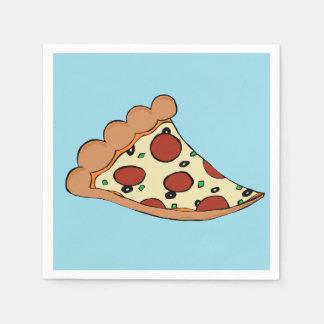 Pizza slice cocktail napkin
