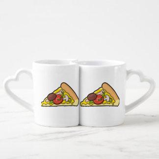 Pizza slice coffee mug set