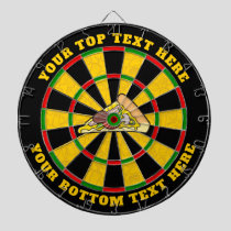 Pizza Slice Dartboard with Custom Text