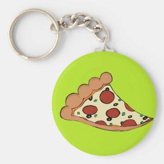 Pizza slice design keychain