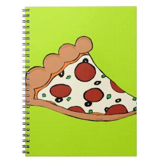 Pizza slice design notebook