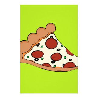 Pizza slice design stationery