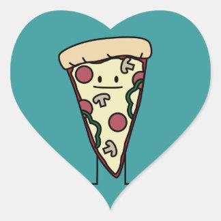 Pizza Slice Heart Sticker