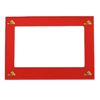 Pizza slice magnetic frame