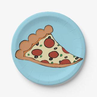Pizza slice paper plate