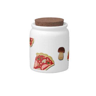 Pizza slice pattern candy jar