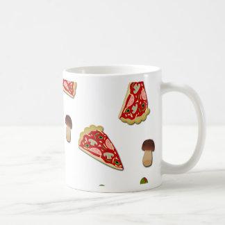 Pizza slice pattern coffee mug