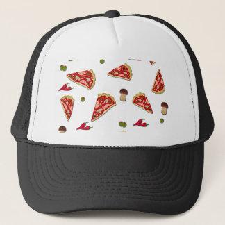 Pizza slice pattern trucker hat