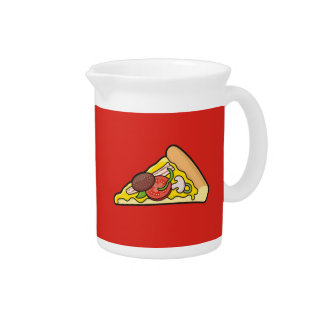 Pizza slice drink pitchers