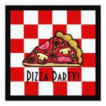 Pizza Slice Pizza Party Custom Announcements