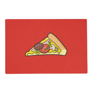 Pizza slice placemat