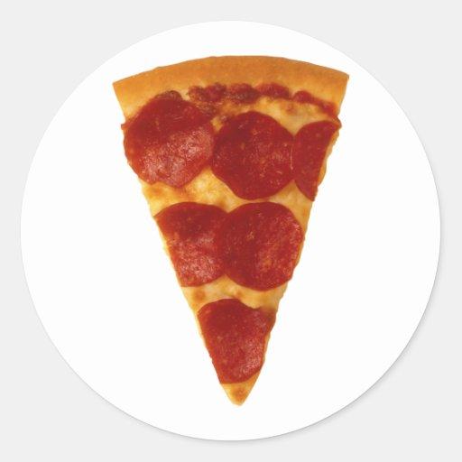Pizza Slice Round Stickers