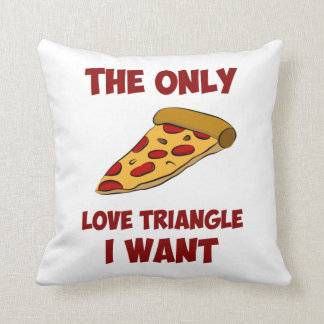 Pizza Slice - The Only Love Triangle I Want Throw Pillow