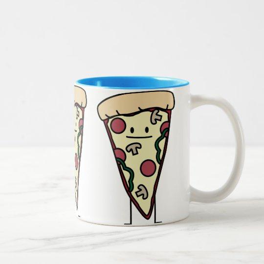 Pizza Slice Two-Tone Coffee Mug