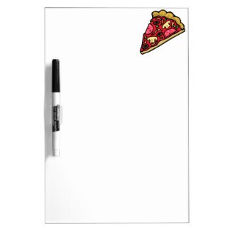 Pizza Slice with Various Toppings Dry Erase Boards