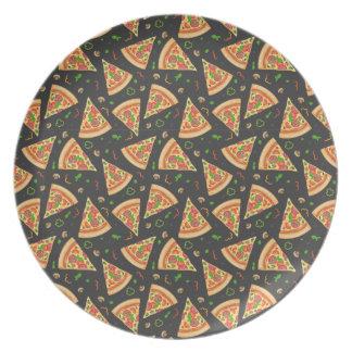 Pizza slices background melamine plate