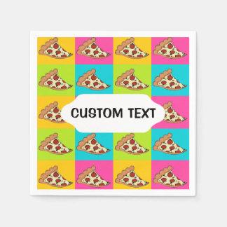 Pizza slices custom cocktail napkin