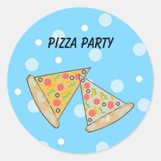 Pizza Slices Pizza Party Classic Round Sticker