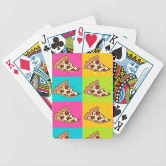 Pizza slices tiled design bicycle playing cards