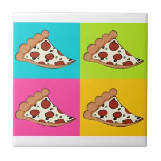 Pizza slices tiled design ceramic tile