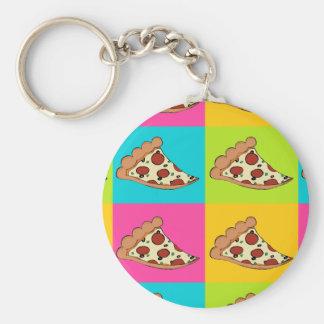 Pizza slices tiled design keychain