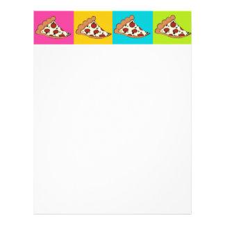 Pizza slices tiled design letterhead