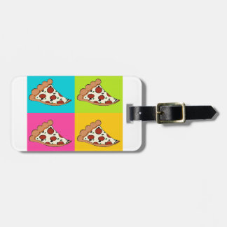 Pizza slices tiled design luggage tag