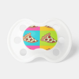 Pizza slices tiled design pacifier