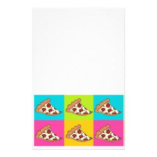 Pizza slices tiled design stationery