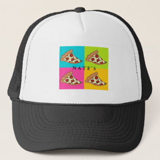 Pizza slices tiled design trucker hat