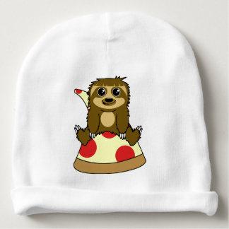 Pizza Sloth Baby Beanie