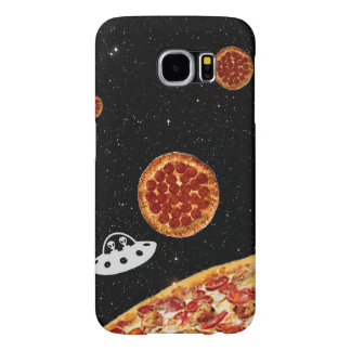 Pizza Solar System Hipster in Galaxy Space Clear Samsung Galaxy S6 Case