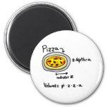 Pizza solucionada imán para frigorífico