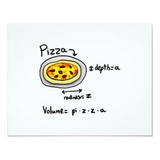 """Pizza solucionada invitación 4.25"""" x 5.5"""""""
