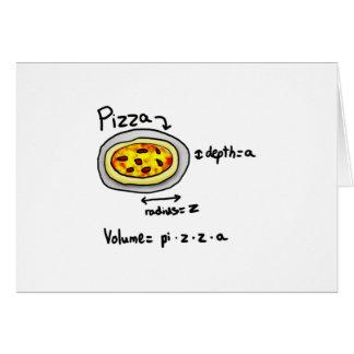 Pizza solucionada tarjeta de felicitación